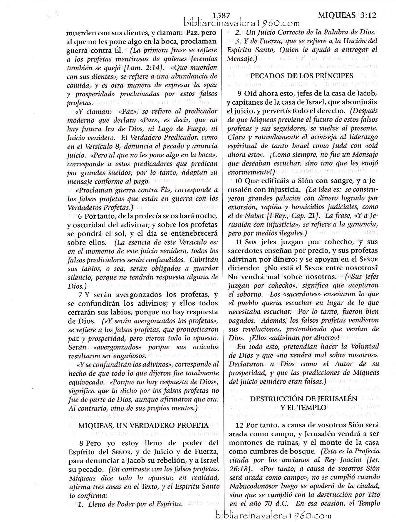 miqueas 3 explicacion 1587