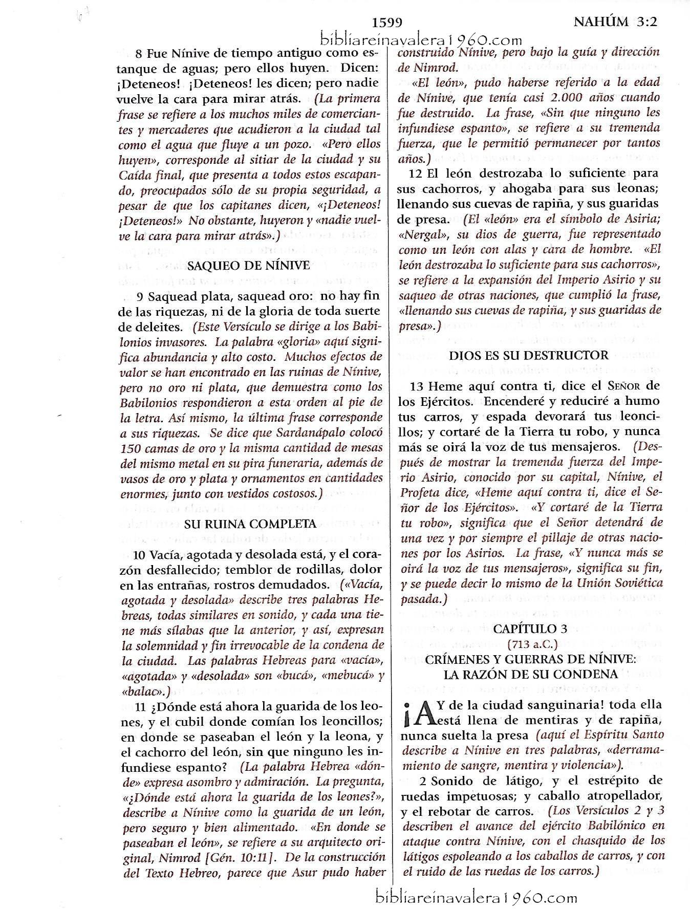 nahum 2 explicacion 1599